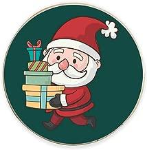 Yaya Cafe™ Christmas Gifts, Printed Santa with Gifts Fridge Magnets - Round