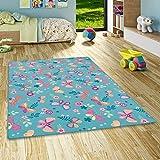 alfombra turquesa infantil