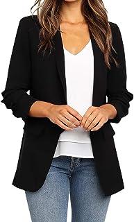 SUNNSEAN Chaqueta de Traje de Negocios para Mujer Blazers Solapa Manga Larga Slim Fit Elegante Blázer Abrigo Formal Blazer y Trajes de Oficina Chaquetas Elegantes