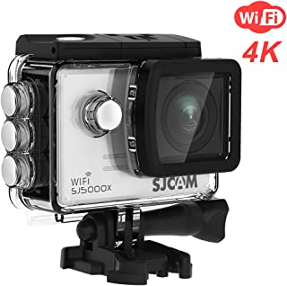 SJCAM SJ5000X Elite WiFi Underwater 4K (24FPS) Action Camera with 12MP Sony Sensor/Gyro Stabilization/2.0 LCD Screen (Waterproof Case and Accessories Included) -Silver