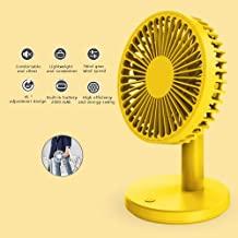 YXZQ Handheld Fan, Mini USB Powered 45° Rotatable with 3 Speeds with Rechargeable 2500mah Battery Quiet Operation for Home...