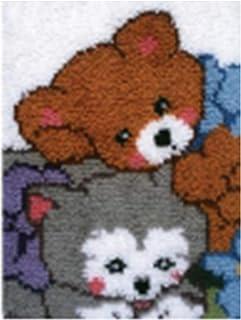 X-xyA Latch Hook Kits Rug Crochet Kits Making Crafts for Kids Adults 52 X 38 Cm,A,20.5 inch X 15 inch