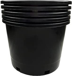 Calipots 5-Pack 10 Gallon Premium Black Plastic Nursery Plant Container Garden Planter Pots (10 Gallon)