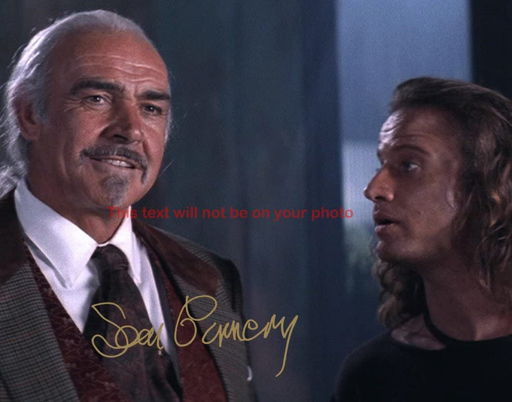 5 ☆ very popular Branded goods Sean Connery Highlander II The 8x10 Gloss Autographed Quickening