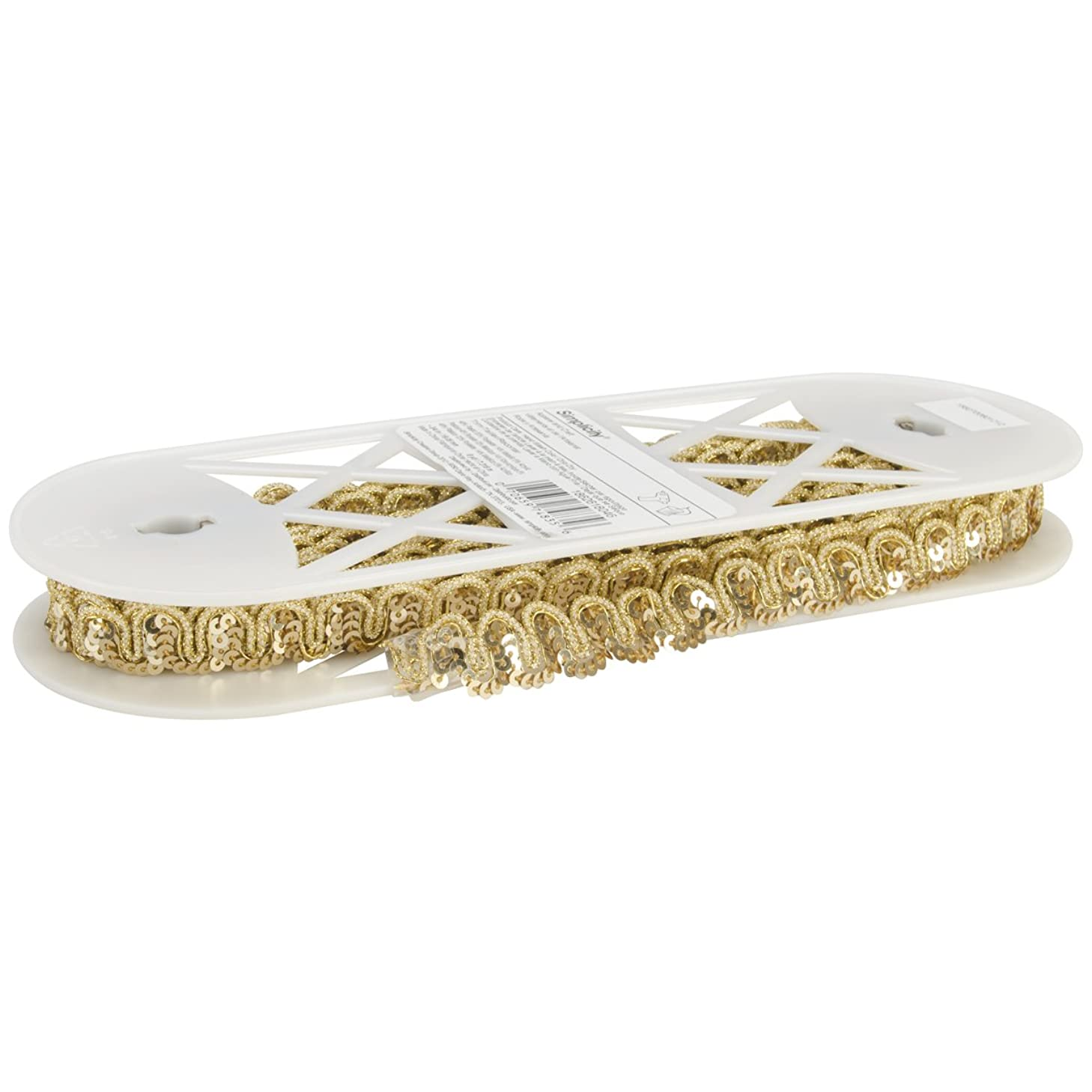 Wrights Snail Sequin, 3/4-Inch by 8-Yard, Gold