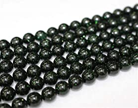 Wholesale Green Goldstone Beads,4mm 6mm 8mm 10mm 12mm Green Goldstone Smooth and Round Beads.Green Goldstone Beads Wholesale. Wholesale Beads. (6mm,63pcs)
