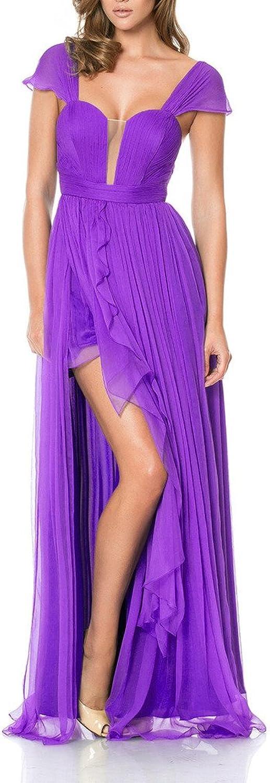 Emmani Women's Strapless OffShoulder Side Split Long Formal Prom Dresses