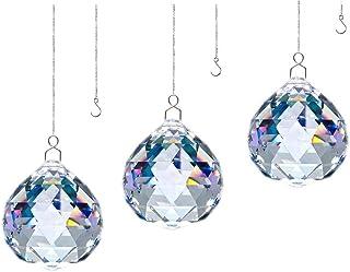 JIHUI Crystal Prism Ball 40mm Rainbow Suncatcher Window Prism Garden Prism with Hook (3)