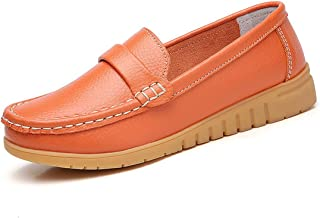 Jiyaru Womens Rubber Non-Slip Slip-on Breathable Sneakers Low Top Nursing Loafers Shoes