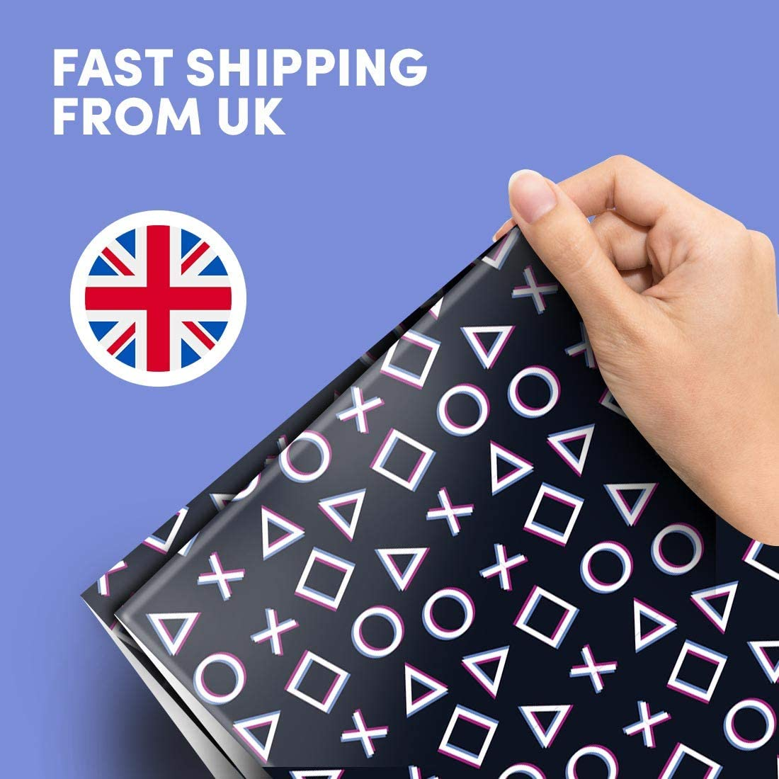 Buy 20 x Wrapping 20x20cm Paper Eco Printed   20D Style Computer ...