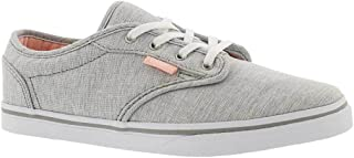 Vans Unisex-Child Girls VN000301ISI Girl's Atwood Low (Menswear) Summer Gray Skateboarding Shoes