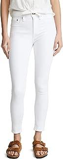 Rag and Bone Women's Nina High Rise Ankle Skinny Jeans White