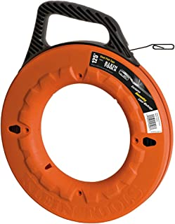Fish Tape, 125-Foot, great for Long Runs and Heavy Duty Wire Pulls, Laser Etched for Conduit Measuring Klein Tools 56003