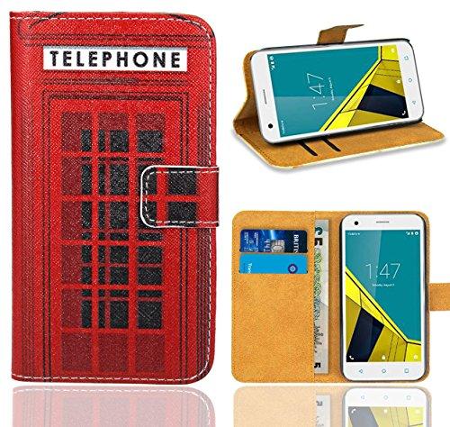 FoneExpert® Vodafone Smart Ultra 6 Handy Tasche, Wallet Hülle Flip Cover Hüllen Etui Ledertasche Lederhülle Premium Schutzhülle für Vodafone Smart Ultra 6 (Pattern 12)