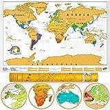Luckies of London Weltkarte zum Rubbeln - Das Original Scratch Map, Original, Groß, 82,5 x 59,4cm