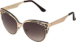 Sky Vision Cat Eye Sunglasses for Women, Brown Lens, SK9634