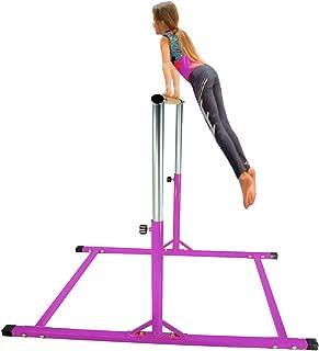 X-Factor 5 Ft Athletic Horizontal Bar Teens Adjustable Gymnastics Children's Training Kip Bars Purple