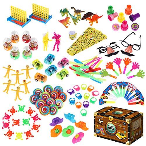 iBaseToy Party Favor Spielzeug-Sortiment 120er-Packung, Party Belohnungen für Kinder, Geburtstagsfeier, Karnevalspreise, Pinata-Füllstoffe, Massenspielzeug, Schatzkiste, Goodie-Bag-Füllstoffe