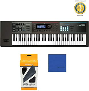 Roland JUNO-DS61 61-key Synthesizer with Official Roland Brand Dust Cover & Microfiber and 1 Year Everything Music Extended Warranty