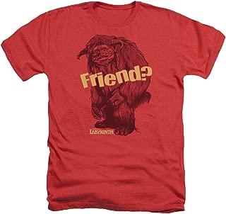 2Bhip Labyrinth Movie Ludo Friend Adult Heather T-Shirt Tee