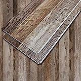 DecorKing Vinyl Plank Flooring SPC Core Wood Grain Finish Flooring Waterproof Floating Flooring Click Lock Interlocking Rigid Core Plank 5.5mm for Home Kitchen Office Samples