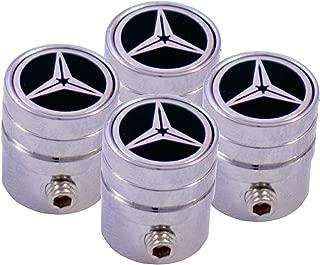 4x gomme auto tappi valvola Nero di Alluminio per BMW Audi Mercedes VW Opel
