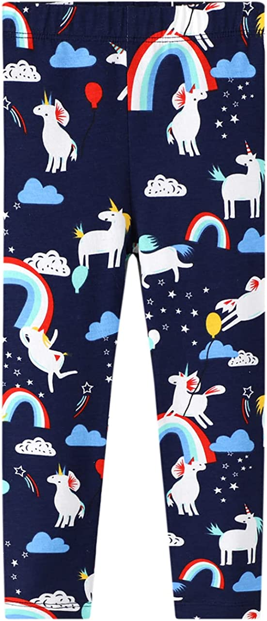 LINL Girls Stretch Leggings Cheap mail order specialty store Over item handling ☆ Soft Rainbow Pants Patterns Ank Kids