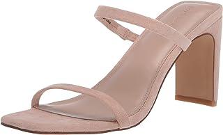 The Drop Avery Sandalias, de Tacón Alto con Punta Cuadrada y Dos Correas Heeled Sandal para Mujer
