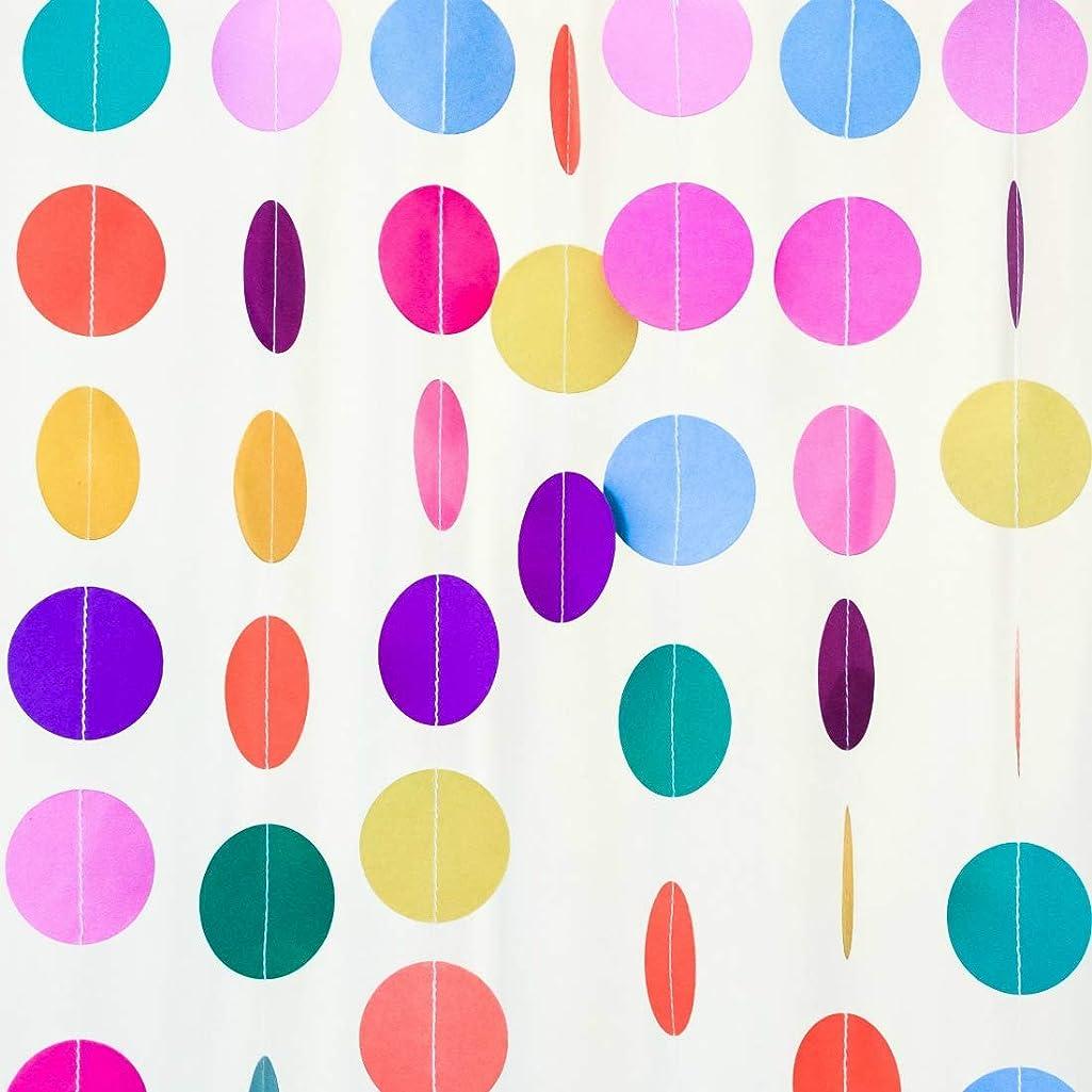Bobee Rainbow Paper Garland 70 feet 5 Strands Party Decorations Girls Birthday Fiesta Streamers