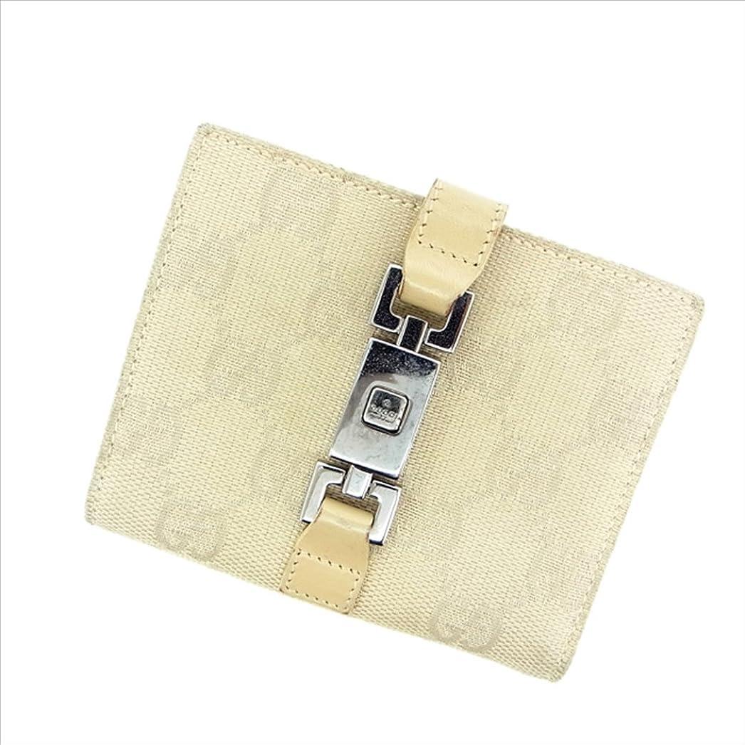 アシスタントメイド認識(グッチ) Gucci Wホック財布 ベージュ GG柄 レディース 中古 B507