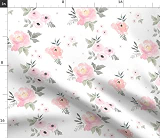 sold per yard. Simply gorgeous cotton fabric pink roses buttercream designed in Ohio 44 x 104 2.8 yards new old stick jo ann fabrics