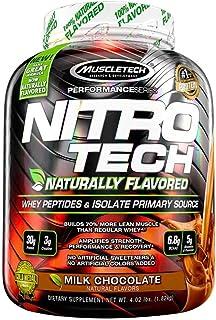 Whey Protein Powder, MuscleTech Nitro-Tech Whey Protein Isolate + Peptides, Lean Protein Powder with Creatine, Sports Nutr...