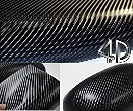 DIYAH 4D Black Carbon Fiber Vinyl Wrap Sticker with Air Realease Bubble Free Anti-Wrinkle 12