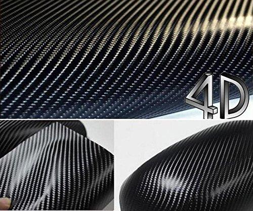 "DIYAH 4D Black Carbon Fiber Vinyl Wrap Sticker with Air Realease Bubble Free Anti-Wrinkle (120"" x 60"" / 10FT x 5FT)"