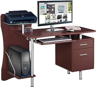Techni Mobili Stylish Computer Desk with Storage, Chocolate, 39.5