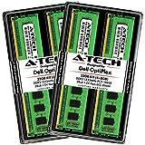 A-Tech 32GB Max RAM Kit for Dell OptiPlex 9010, 7010, 990, 790, MT/DT/SFF - (4 x 8GB) DDR3 1333MHz PC3-10600 Non-ECC DIMM Memory Upgrade