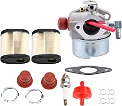 Dxent 640350 Carburetor w 36905 Air Filter for Tecumseh 6.75 HP LEV100 LEV120 LV195EA LV195XA Toro 20005 20007 20008 20009 20012 20013 20014 20016 20017 20018 20019 Recycler Lawn Mower