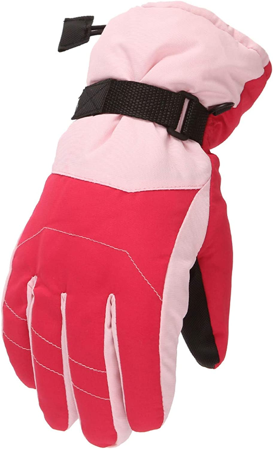 Winter Gloves Boys Girls Cold Weather Waterproof Snow Gloves with Wrist Leashes