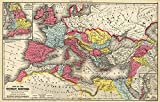 Riley Creative Solutions  1875 Map of The Roman Empire Ancient History Wall Art Poster Print Decor Artwork (16'x25')
