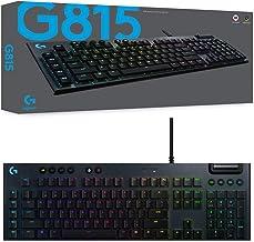 Logitech 920-009223 G815 Lightsync RGB Mechanical Gaming Keyboard with GL-Linear Switch, Black