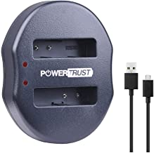 PowerTrust CGA-S005 CGA-S005A CGA-S005E USB Dual Battery Charger for Panasonic DMW-BCC12 Lumix DMC-LX1 DMC-LX2 DMC-LX3 Batteries