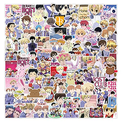 Stickers for Ouran-High-School-H-C | 100 PCS |Hydro Flask, Vinyl Waterproof Stickers for Laptop,Skateboard,Water Bottles,Computer,Phone, Cute Anime Stickers