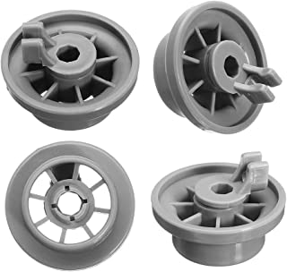 165314 Dishwasher Lower Rack Wheel Replacement Part by Exact Fit for Bosch & Kenmore Dishwashers - Replaces 00420198 420198 - PACK OF 4