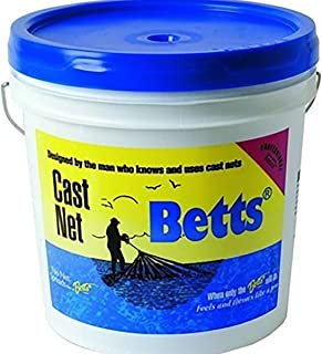 Betts 18-7 Professional Series Mullet Mono Cast Net, 7-Foot Length, 1-Inch Mesh, Clear Finish