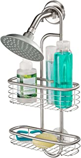 iDesign Hanging Shower Caddy, Small Stainless Steel Shower Organiser for Shampoo, Shower Gel, Conditioner and More, Compac...