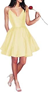 yellow homecoming dresses short