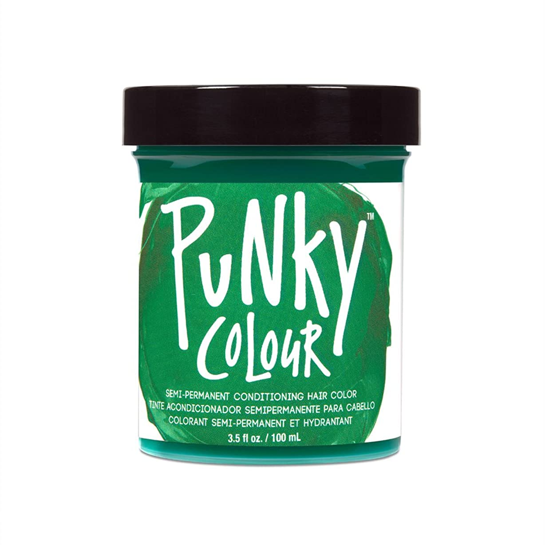 蒸し器ミンチボウリング(3 Pack) JEROME RUSSELL Punky Color Semi-Permanent Conditioning Hair Color - Alpine Green (並行輸入品)