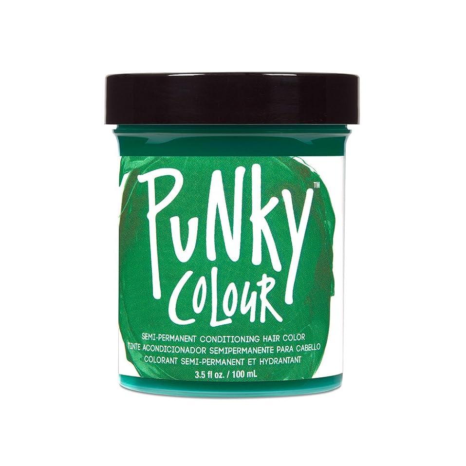平均確認してくださいオーバーフロー(3 Pack) JEROME RUSSELL Punky Color Semi-Permanent Conditioning Hair Color - Alpine Green (並行輸入品)