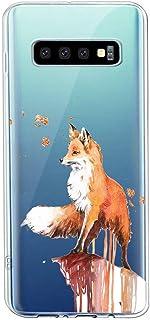 Oihxse Crystal Clear beschermhoes voor Samsung Galaxy A50S Silicone TPU zachte beschermhoes [mooi aquarel dier design] ant...