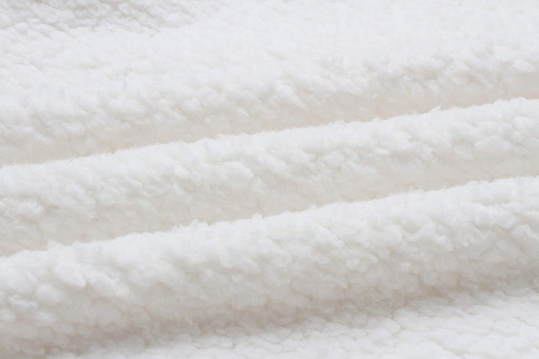 Famulily Damen -fuzzy Fleecejacke verlieren reißverschlusstaschen Strickjacke mäntel outwear Weiß